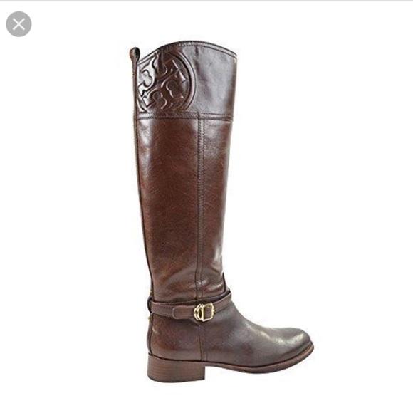 62e104c0b9b3 Tory Burch Marlene riding boots -almond 224. M 5aca2a0645b30cf89e43b89c